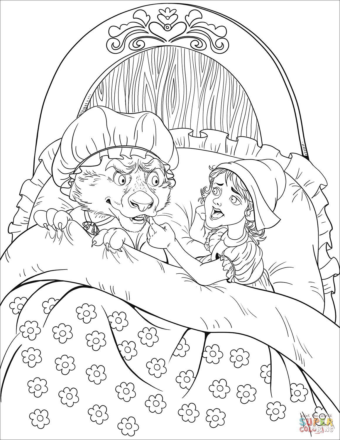 Granny, What Big Teeth You Have! Asks Little Red Riding Hood - Little Red Riding Hood Masks Printable Free