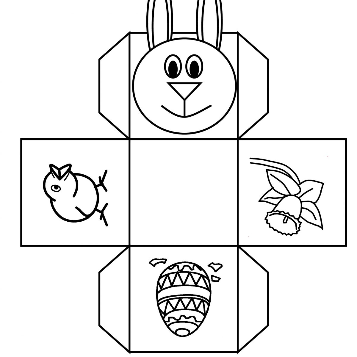 Great Printable Bunny Basket Template Images. Best Bunny Basket - Free Printable Easter Baskets
