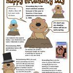 Groundhog Day Poster Worksheet   Free Esl Printable Worksheets Made   Free Groundhog Day Printables