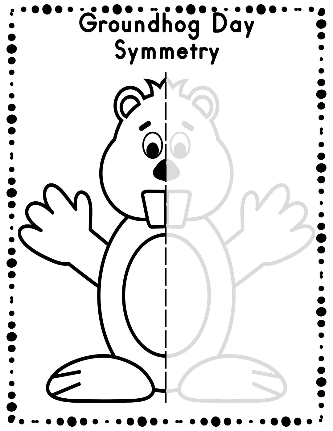 Groundhog Day Worksheets - Best Coloring Pages For Kids - Free Groundhog Day Printables