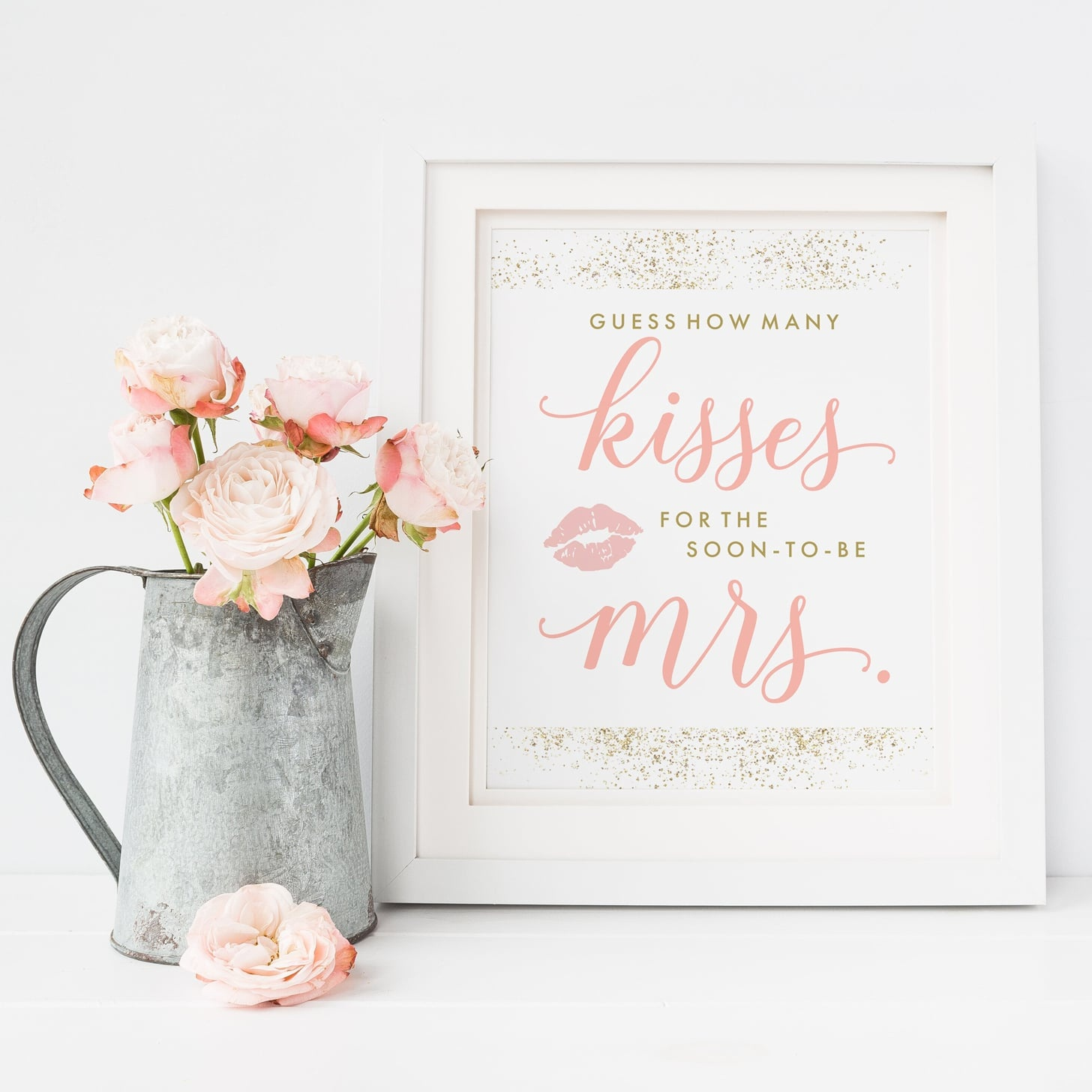 Guess How Many Kisses For The Soon-To-Be Mrs. Printable Game - How Many Kisses Game Free Printable