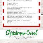 Guess The Christmas Carol Game   Lil' Luna   Free Printable Christmas Song Quiz