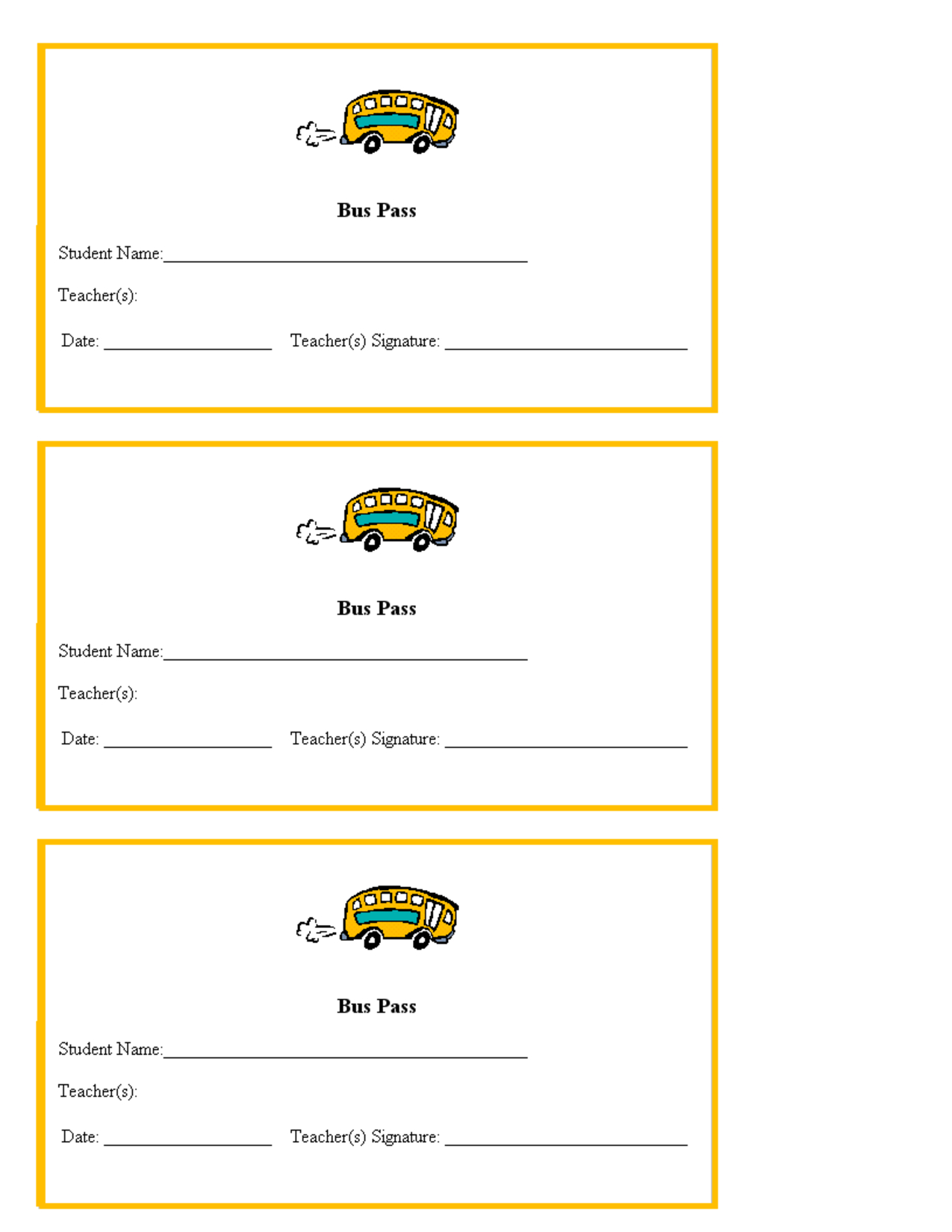 Hall Pass Template For Teachers | Teacher Printables School Bus - Free Printable Hall Pass Template