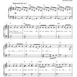 Hallelujahleonard Cohen Very Easy Piano Digital Sheet Music In   Hallelujah Easy Piano Sheet Music Free Printable