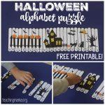 Halloween Alphabet Puzzle   Free Printable Alphabet Puzzles