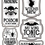 Halloween Bottle Labels   Free Printables   Potions Labels   Free Printable Potion Labels