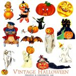 Halloween Clipart – Free Printables – 101 Clip Art   Free Vintage Halloween Printables