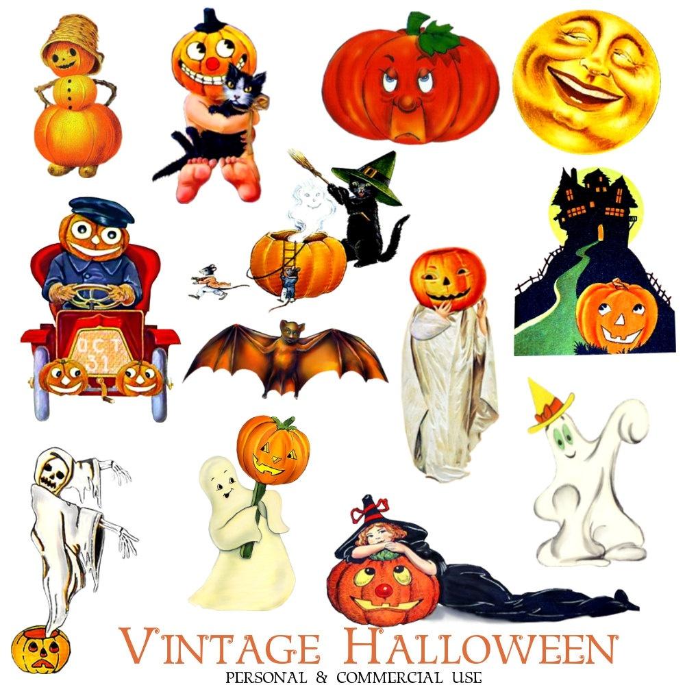 Halloween Clipart – Free Printables – 101 Clip Art - Free Vintage Halloween Printables