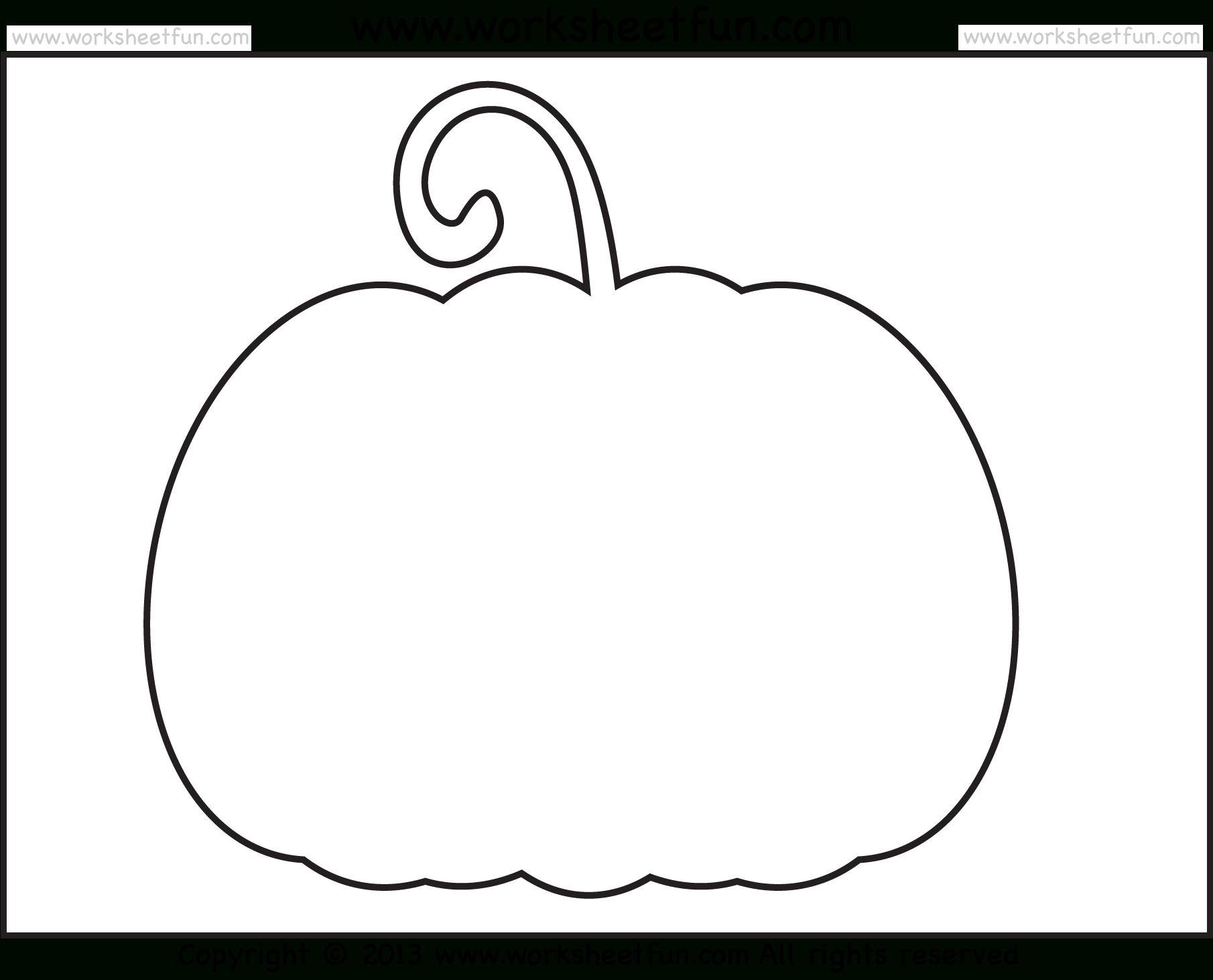 Halloween Printable Stencils For Pumpkin – 2 Worksheets / Free - Free Pumpkin Printables
