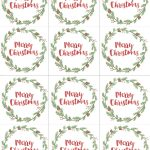 Hand Painted Gift Tags Free Printable | Christmas | Christmas Gift   Christmas Name Tags Free Printable