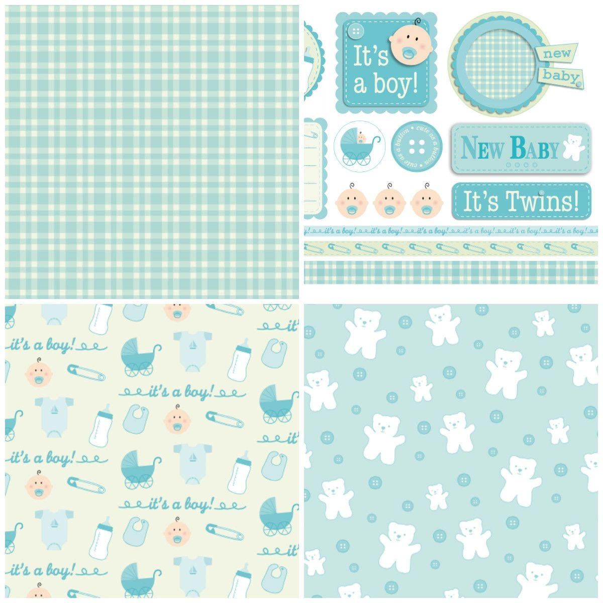 Handmade For Babies – Free Papers | Printable Papers | Digital Paper - Free Online Digital Scrapbooking Printable