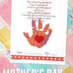 Handprint Mother's Day Poem Printable | Glued To My Crafts   Free Printable Mothers Day Poems