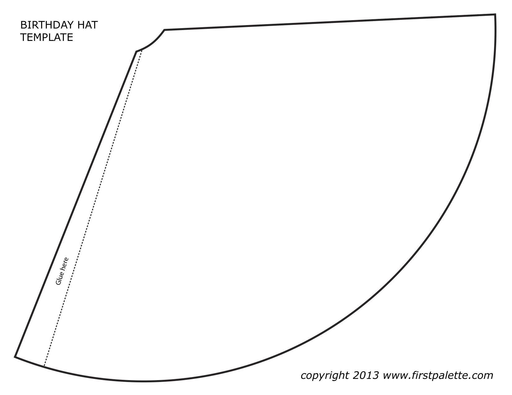 Happy Birthday Hats! | Annie Dean | Crafty | Hat Template, Party - Free Printable Birthday Hat Template
