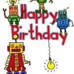 Happy Birthday Robots   Birthday Card (Free) | Greetings Island   Free Printable Birthday Cards For Kids