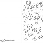 Happy Mother's Day Card Coloring Page | Free Printable Coloring Pages   Free Printable Mothers Day Cards To Color