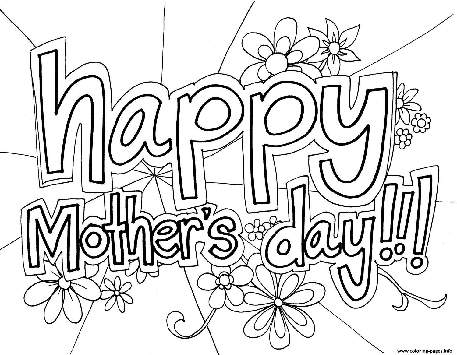 Happy Mothers Day Coloring Pages Free Happy Mothers Day Coloring - Free Printable Mothers Day Coloring Sheets