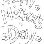 Happy Mother's Day Doodle Coloring Page | Free Printable Coloring   Free Printable Mothers Day Coloring Pages