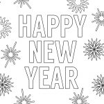 Happy New Year Coloring Pages Free Printable   Paper Trail Design   New Year Coloring Pages Free Printables