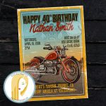 Harley Davidson Birthday Party Invitation Motorcycle | Etsy   Motorcycle Invitations Free Printable
