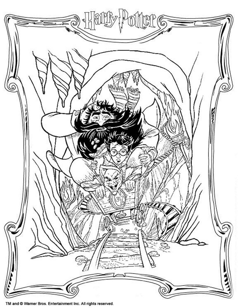 Harry Potter Coloring Pages - 33 Harry Potter Online Coloring Sheets - Free Printable Harry Potter Colouring Sheets