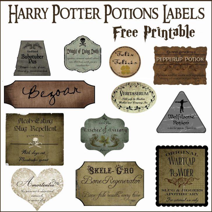 Free Printable Potion Labels