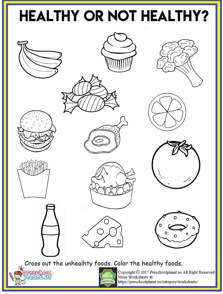 Healthy Food Worksheet | Healthy Food Worksheet Cross Out Th… | Flickr - Free Printable Healthy Eating Worksheets