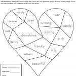 Heartbreak Words Free Printable Worksheet | Education   February   Free Valentine Math Worksheets And Printables