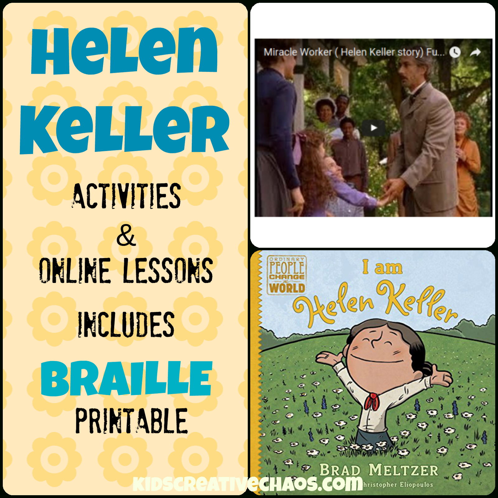 Helen Keller Lesson Plans Elementary Middle School - Kids Creative Chaos - Free Printable Pictures Of Helen Keller