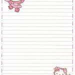 Hello Kitty | Borders,stationary,backgrounds | Hello Kitty, Kitty   Free Printable Hello Kitty Stationery
