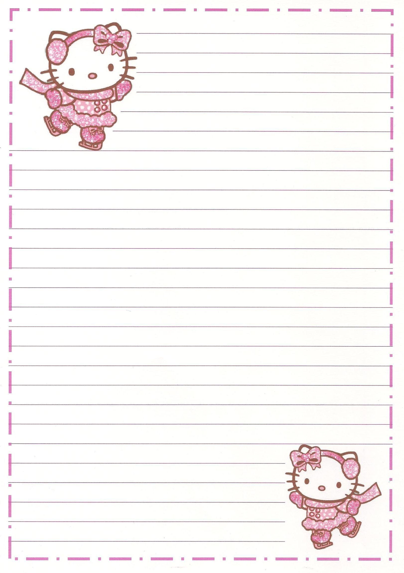 Hello Kitty   Borders,stationary,backgrounds   Hello Kitty, Kitty - Free Printable Hello Kitty Stationery
