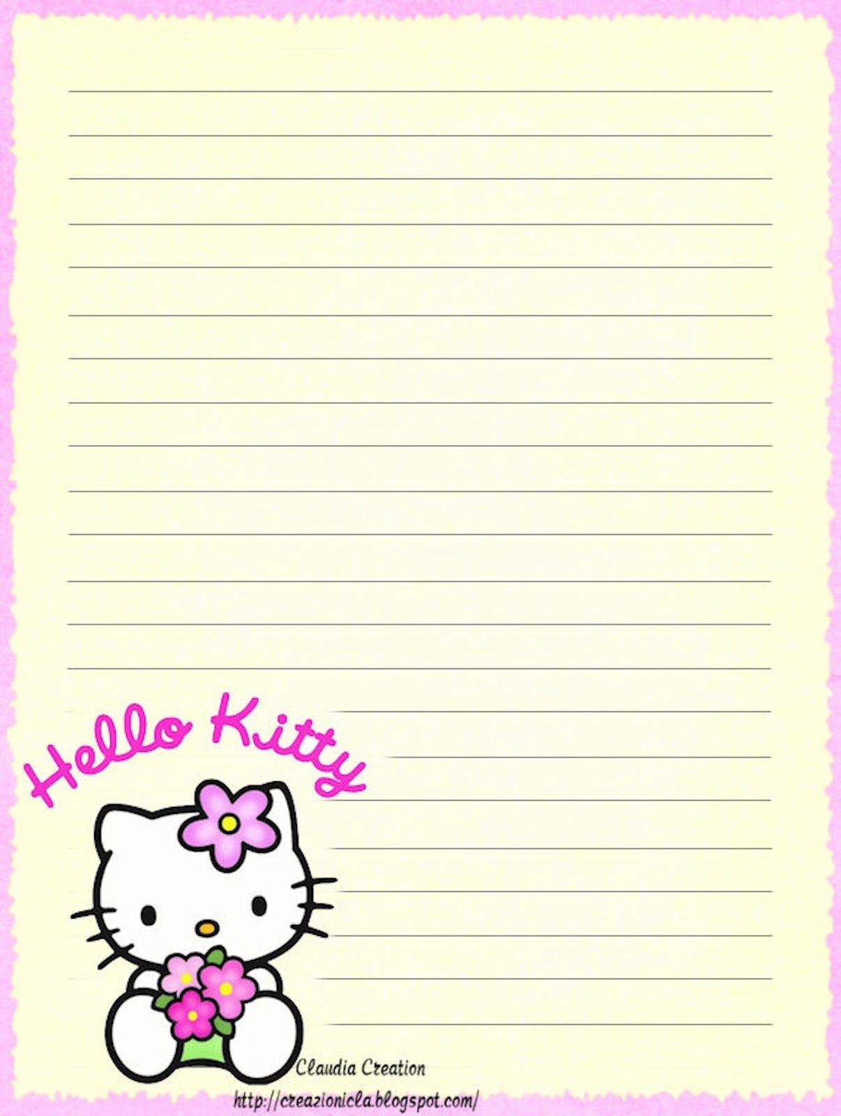 Hello Kitty | Borders,stationary,backgrounds | Hello Kitty Wallpaper - Free Printable Hello Kitty Stationery
