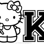 Hello Kitty   Hello Kitty Individual Letters A Z   Free Printable Hello Kitty Alphabet Letters