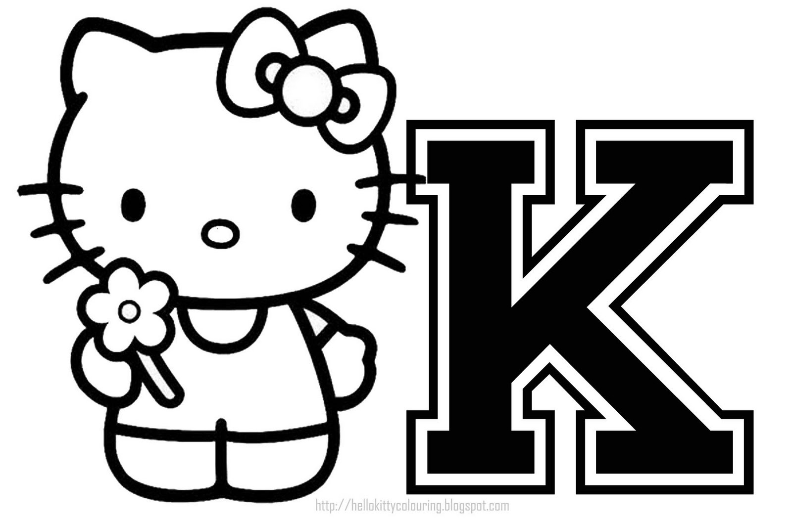 Hello Kitty - Hello Kitty Individual Letters A Z - Free Printable Hello Kitty Alphabet Letters