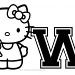 Hello Kitty   Hello Kitty Letters Y   Free Printable Hello Kitty Alphabet Letters