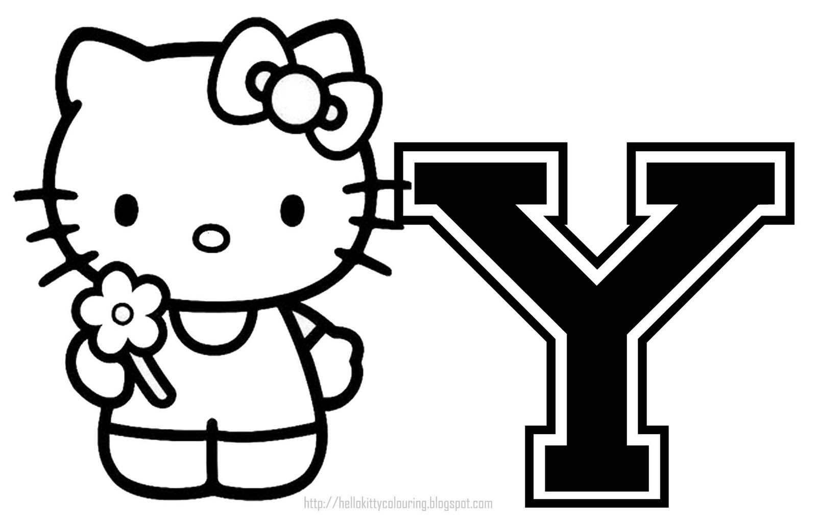 Hello Kitty - Hello Kitty Letters Y - Free Printable Hello Kitty Alphabet Letters