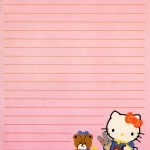 Hello Kitty Vintage Stationery Papel De Carta | Writing Paper   Free Printable Hello Kitty Stationery