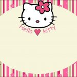 Hello Kitty With Flowers: Free Printable Invitations. | Labels   Hello Kitty Labels Printable Free