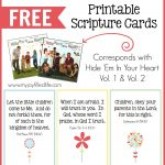 Hide 'em In Your Heart Scripture Cards {Free Printable}   My Joy   Free Printable Bible Verse Cards