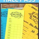 High School Hall Pass | Classroom Procedures For High School Math   Free Printable Hall Pass Template