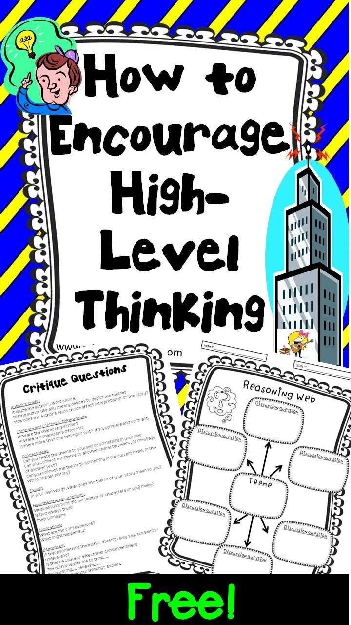 Higher-Level Thinking Lesson Plans And Printables For Any Book - Free Printable High Interest Low Reading Level Stories