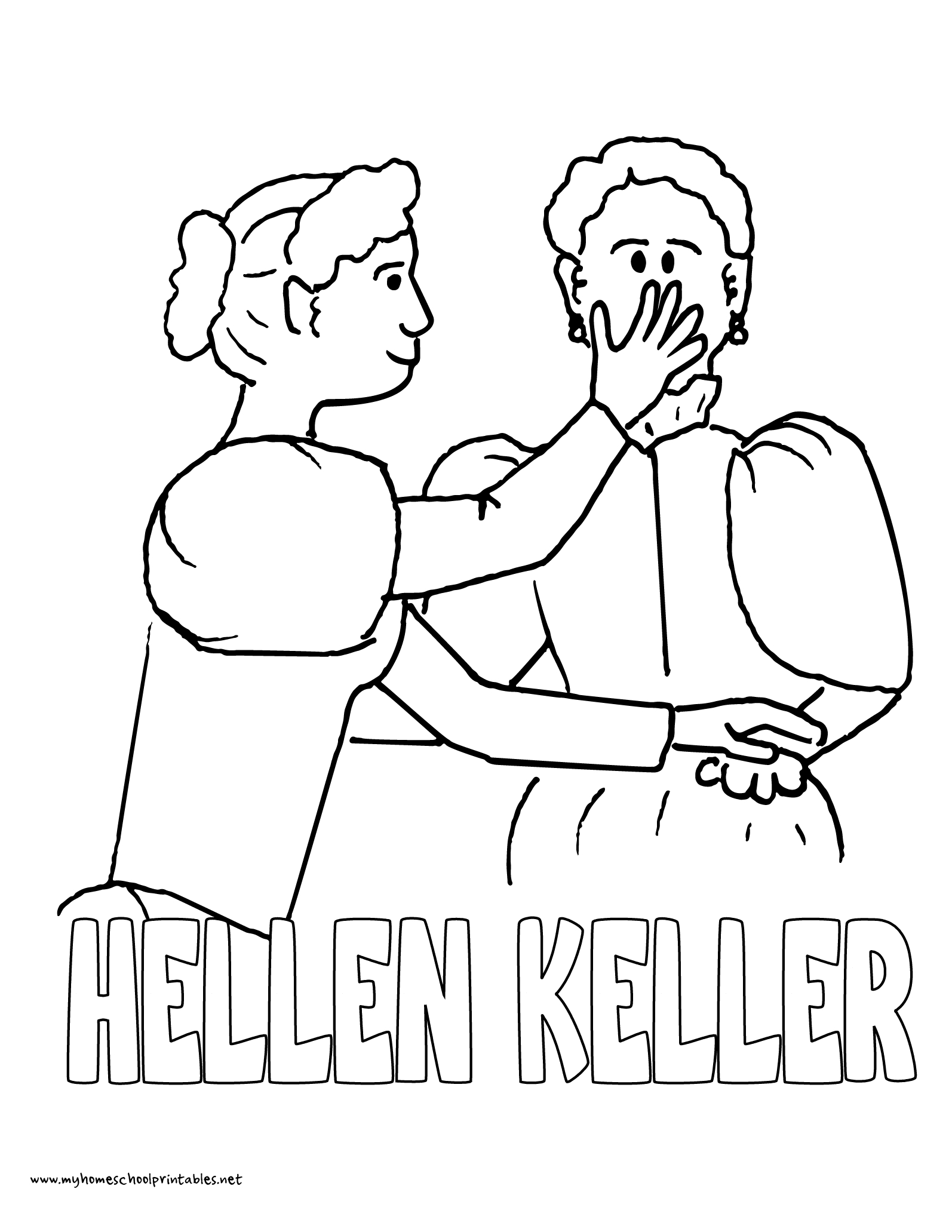 History Coloring Pages – Volume 4 | Mystery Of History 4 | Coloring - Free Printable Pictures Of Helen Keller
