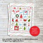 Holiday Bingo Set :: Free Printable   Free Printable Bingo Cards And Call Sheet
