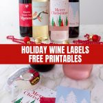 Holiday Wine Labels (Free Printables)   Onion Rings & Things   Free Printable Wine Labels With Photo