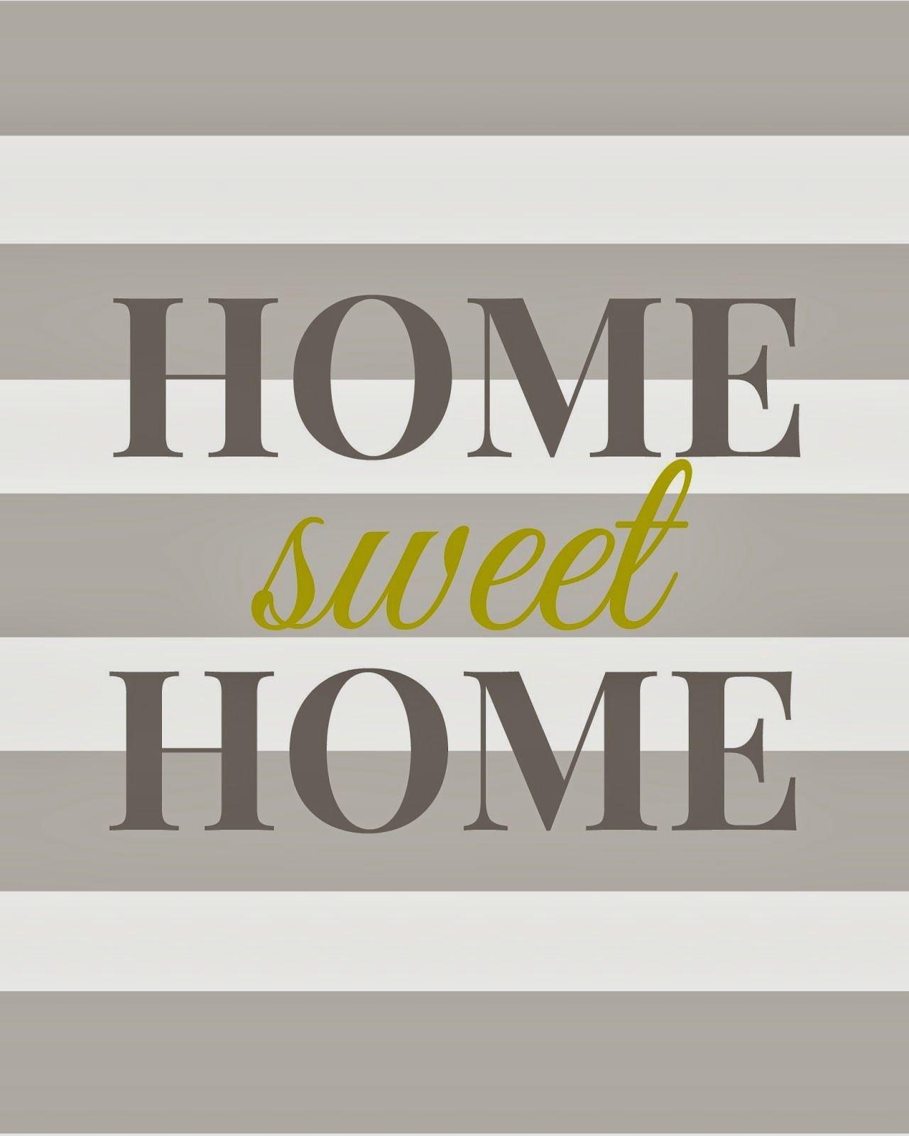 Home Sweet Home - Free Printable | Printables + Fonts | Home Decor - Free Printables For Home