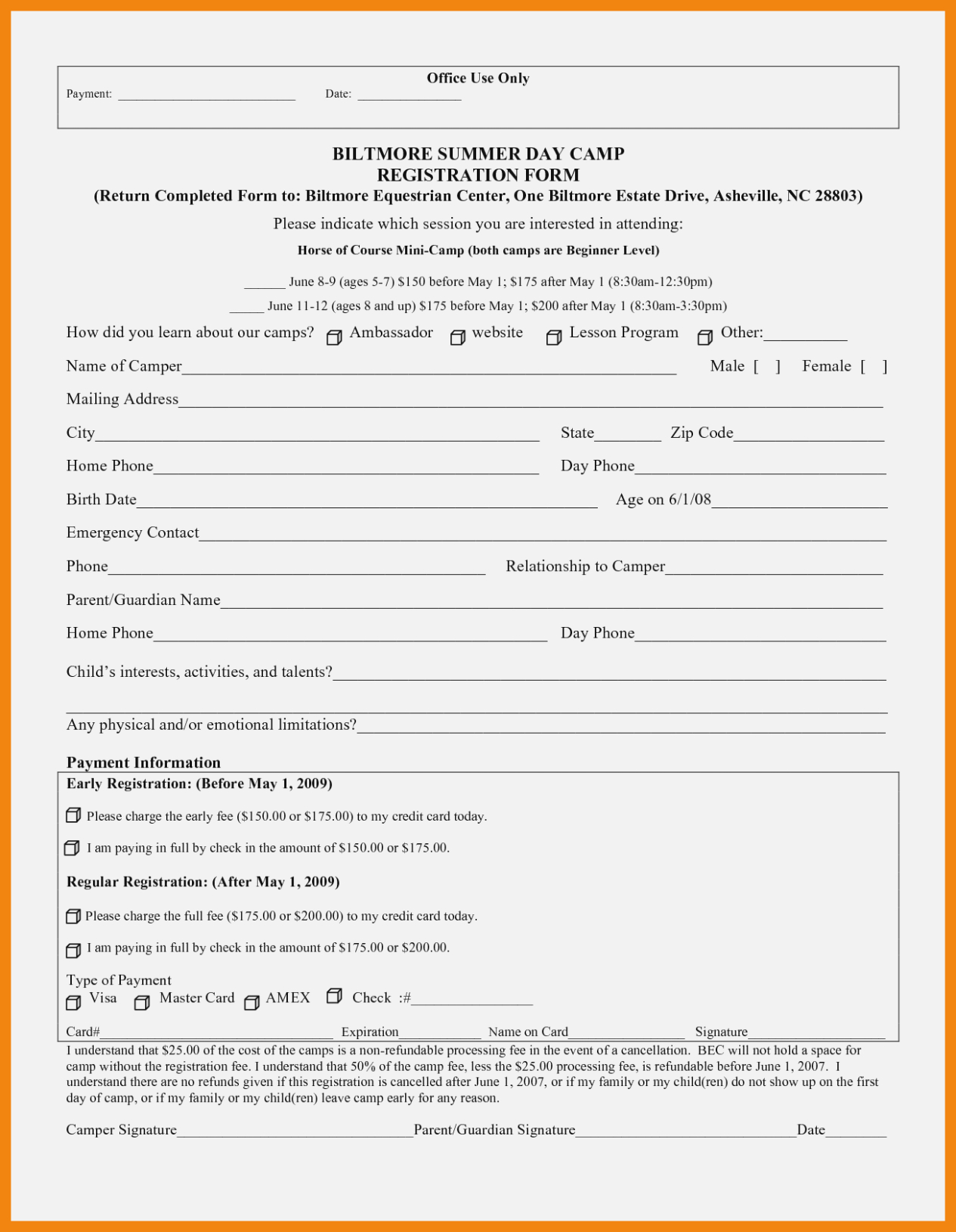 How I Successfuly | Realty Executives Mi : Invoice And Resume - Free Printable Summer Camp Registration Forms
