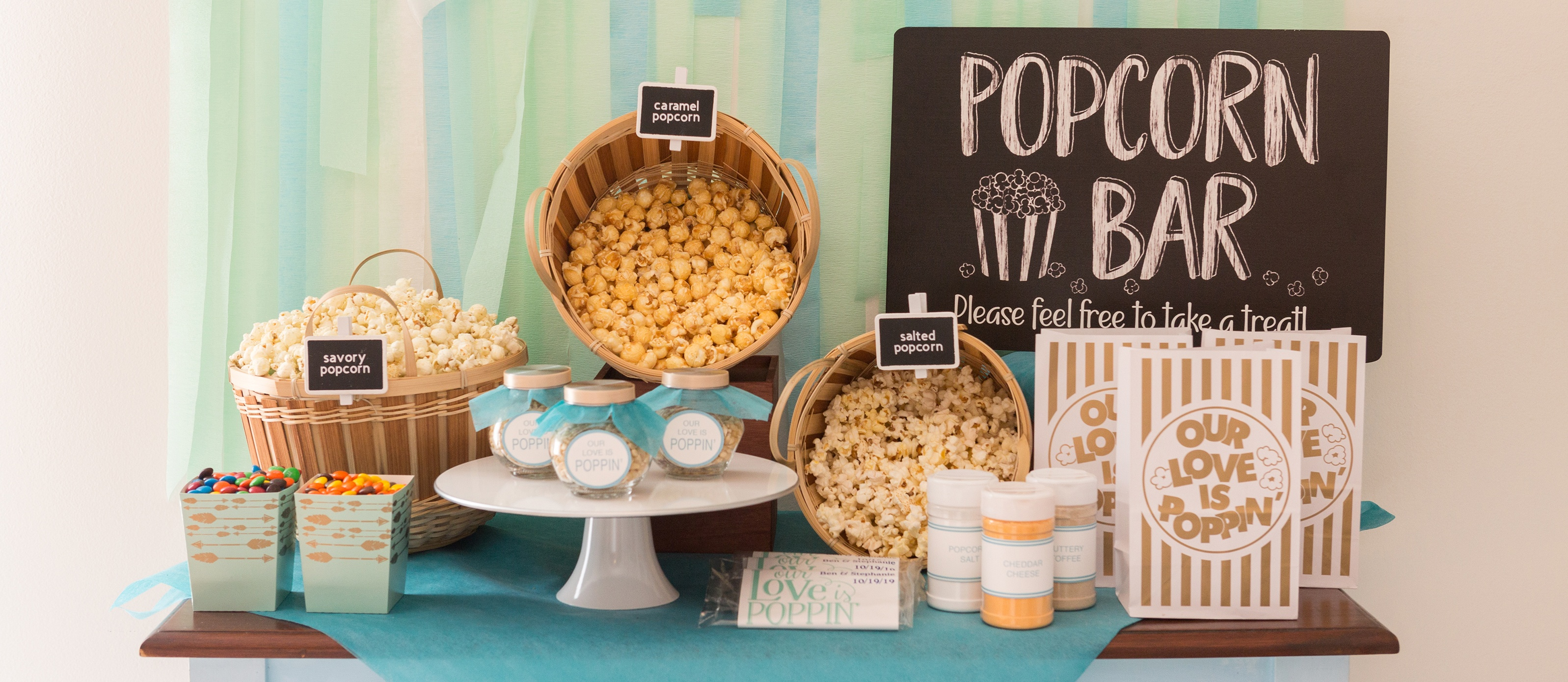 How To Create A Wedding Popcorn Bar | Fun365 - Free Printable Popcorn Bar Labels