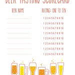 How To Host A Craft Beer Tasting   Drink The Day   Free Beer Printables
