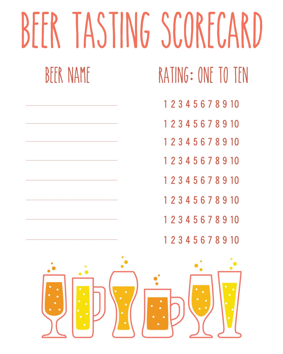 How To Host A Craft Beer Tasting - Drink The Day - Free Beer Printables