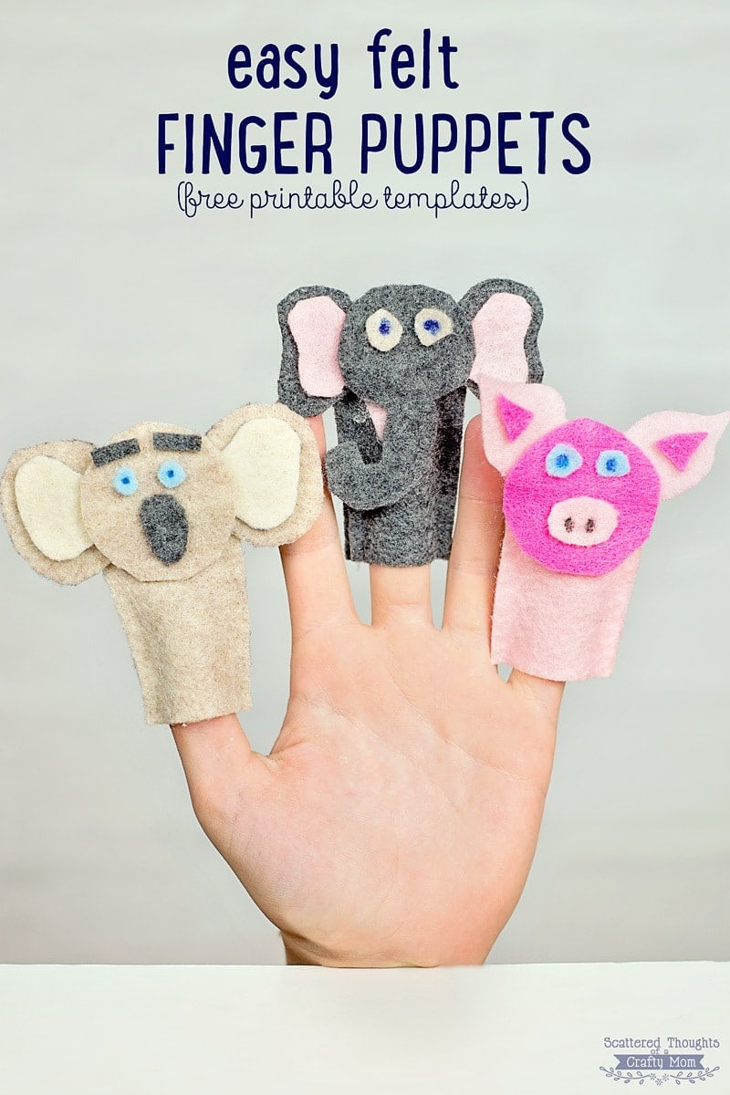 How To Make Felt Finger Puppets (Crafts For Kids) - Scattered - Free Printable Finger Puppet Templates