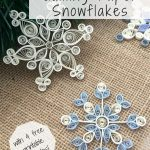 How To Make Quilling Paper Snowflakes | Paper | Paper Quilling   Free Printable Quilling Patterns